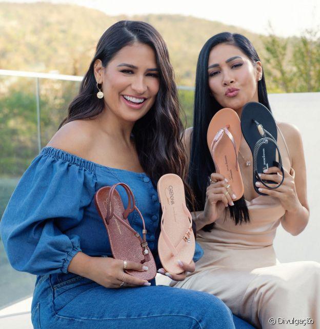 Simone e Simaria lançam coleção em parceria com a Grendha