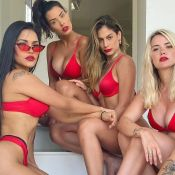 Que time! Flay, Bianca Andrade e outras ex-BBBs posam juntas de biquíni. Foto