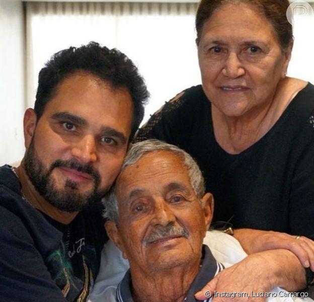Com Covid-19, Luciano Camargo não vai ao velório e enterro do pai, Francisco