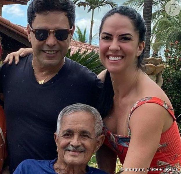 Zezé Di Camargo 'não tem vontade de falar' após morte do pai, diz Graciele Lacerda