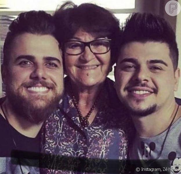 Zé Neto lamenta morte deZenaide Táparo, mãe do cantor Cristiano