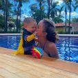 Biah Rodrigues comemora sete meses do filho, Theo
