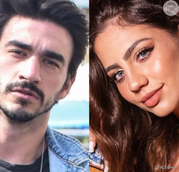 Ex-BBB Guilherme Napolitano vai à festa com modelo Catherine Bascoy