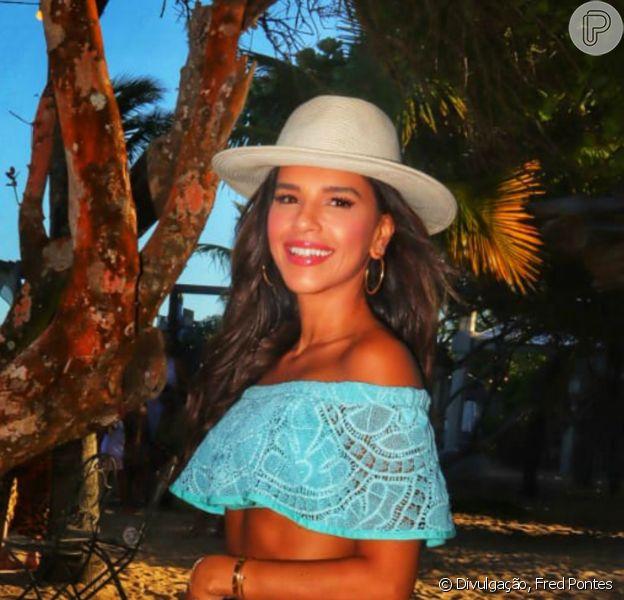 Mariana Rios posou de biquíni em viagem de férias por Trancoso: 'Linda'