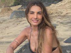 Patrícia Poeta exibe beleza natural em foto de biquíni e famosos elogiam: 'Linda'