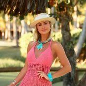 Ana Paula Siebert usa vestido de crochê feito a mão em Trancoso. Saiba preço do look!