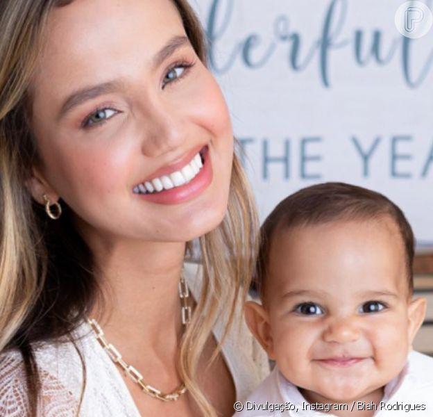 Mulher de Sorocaba, Biah Rodrigues mostra primeiro dente do filho, Theo, em 16 de janeiro de 2020