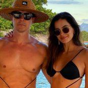 Rodrigo Faro e Vera Viel 'combinam' look praia com amarração: 'Nova moda'
