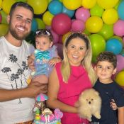 Filha de Zé Neto e Natália Toscano rouba a cena com look de sereia em festa de 8 meses
