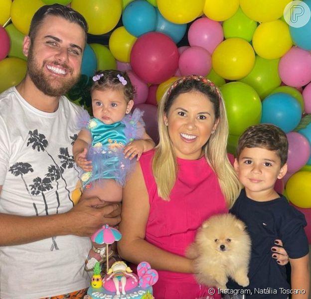 Filha de Zé Neto e Natália Toscano completou 8 meses de vida