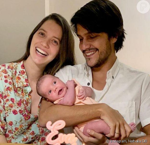Nathalia Dill comemora mesversário da filha, Eva