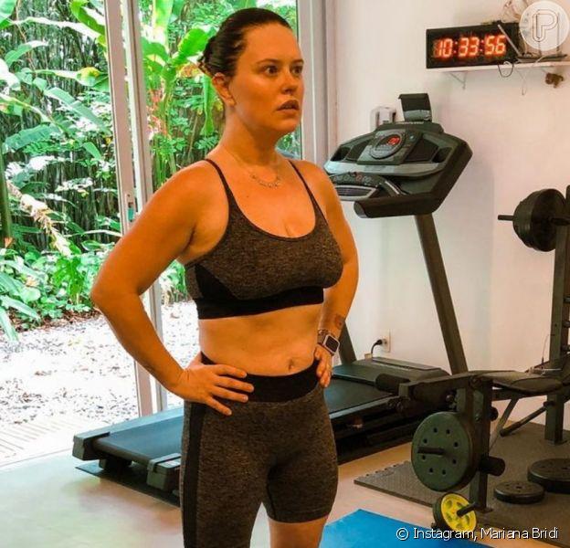Mariana Bridi tem compartilhado nas redes sociais sua rotina fitness