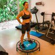 Mariana Bridi está f   eliz por estar tendo resultados no corpo