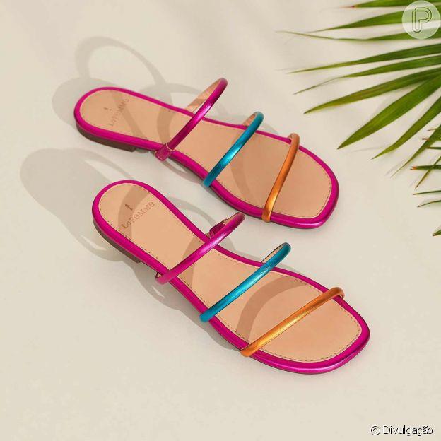 Sandálias metalizadas são trends para o look de Carnaval