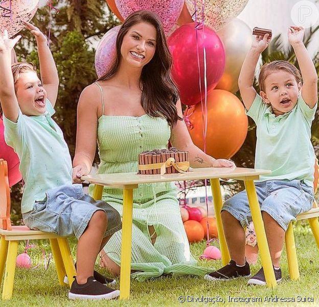 Os filhos de Andressa Suita e Gusttavo Lima encantaram a web neste sábado, 20 de fevereiro de 2020