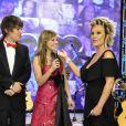 Letícia Navas na época em que apresentava a 'TV Globinho' com Emilio Eric ao lado de Ana Maria Braga
