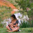 Mais cedo, Giovanna Ewbank apareceu com Zyan no rancho da família