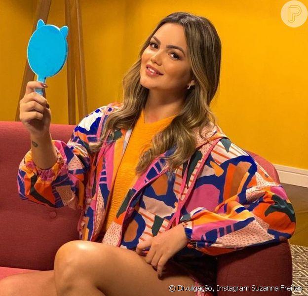 Suzanna Freitas roubou a cena pela semelhança com Kelly Key ao gravar uma campanha de Dia das Mães