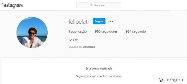 Perfil de Felipe Lati é privado no Instagram