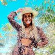 A ex-BBB Sarah Andrade festejou resultado da lipo LAD após 3 semanas