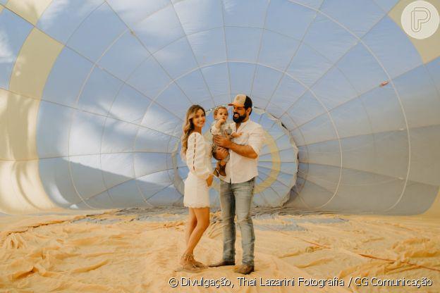 Biah Rodrigues escolheram revelar o sexo do novo bebê em chá de revelação com um balão