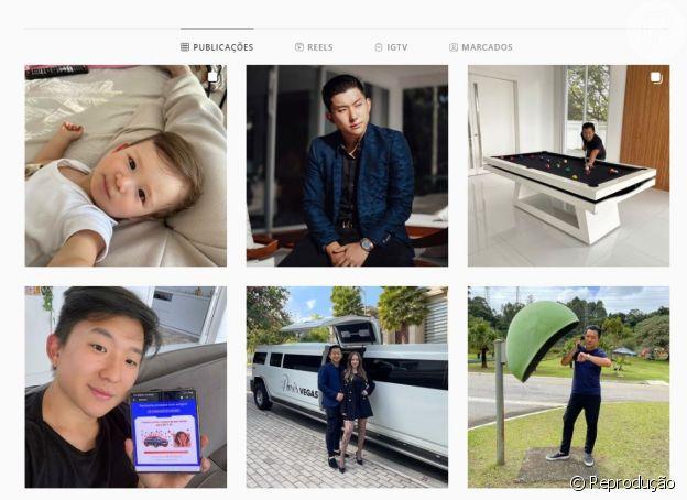 Pyong Lee não exibe mais fotos em seu Instagram de sua participação no 'Ilha Record'