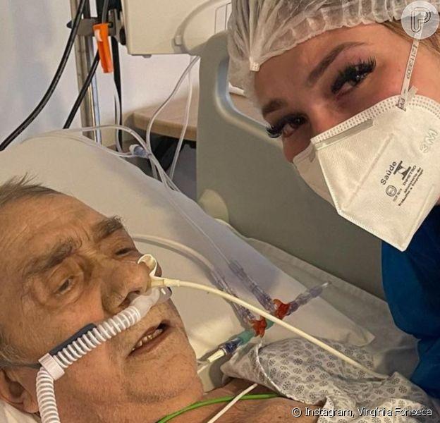 Virgínia Fonseca chora com piora de saúde do pai, agora intubado, e pede orações: 'Força'