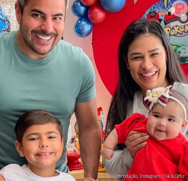 Simone e Kaká Diniz comemoram aniversário de 7 anos de primogênito com temática de Pókemon