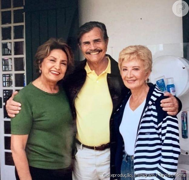 Tarcísio Meira, de 85 anos, Glória Menezes, de 86, e Eva Wilma, que morreu aos 87 anos após luta contra um câncer de ovário