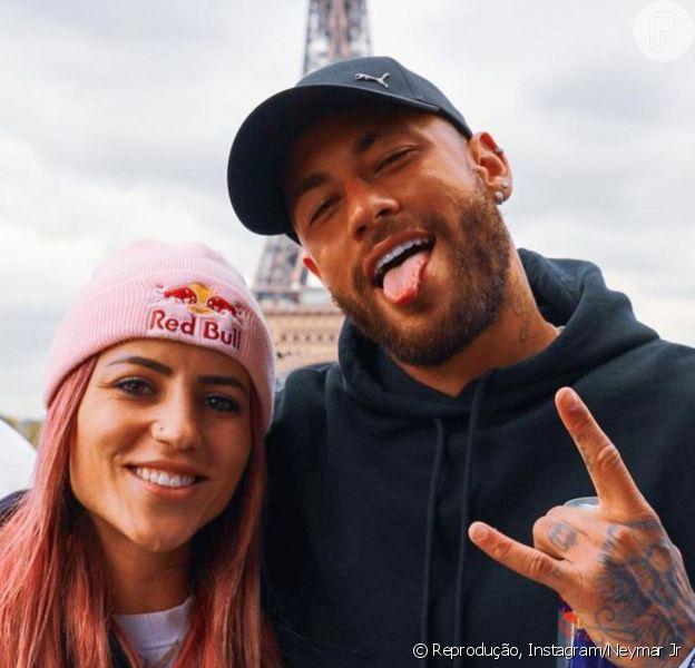 Neymar encontra Leticia Bufoni e se diverte por reação dela em foto. Confira!