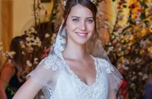 Novela 'Alto Astral': Nathalia Dill surge vestida de noiva para casamento