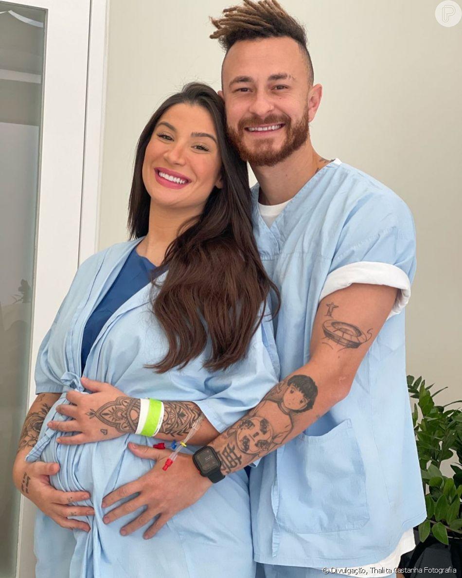Bianca Andrade deu à luz a Cris, seu primeiro filho com o youtuber Fred, em julho