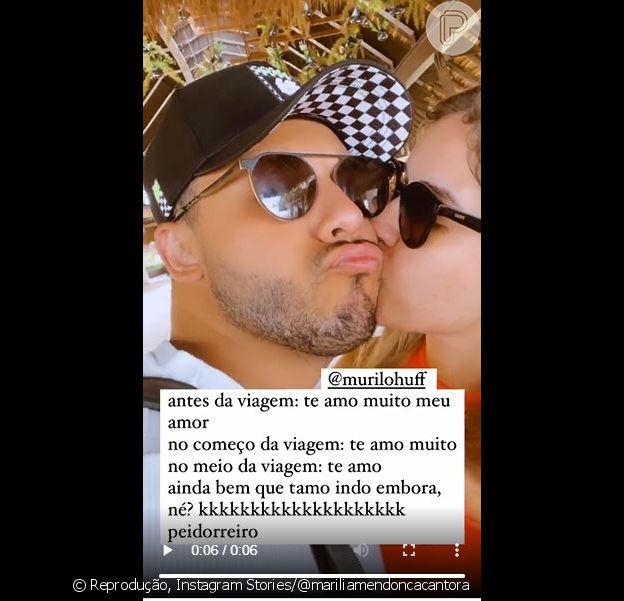 Marília Mendonça entrega defeito de Murilo Huff no fim da viagem romântica