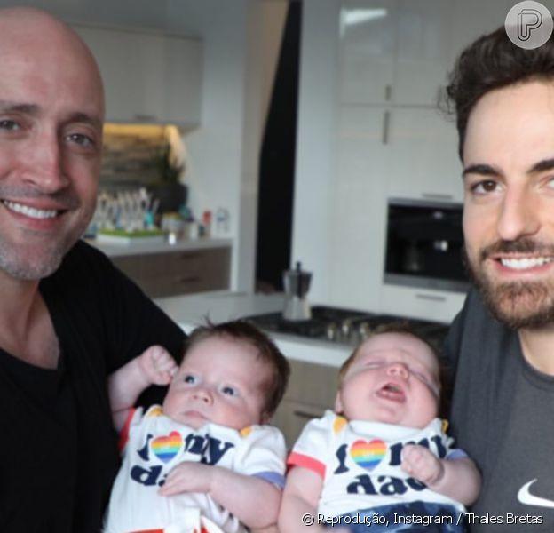 Viúvo de Paulo Gustavo, Thales Bretas compartilha fotos dos filhos, Romeu e Gael, no Dia do Irmão, em 5 de setembro de 2021