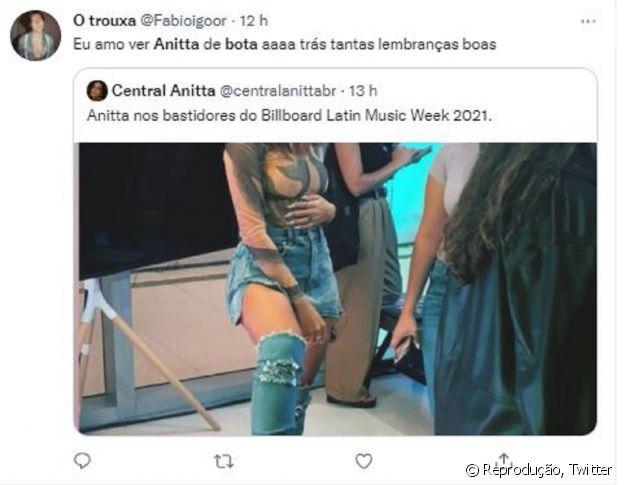 Bota overknee de Anitta comove fãs nas redes sociais