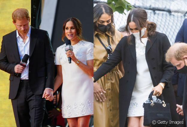 Vestido Valentino é destaque em look de Meghan Markle em viagem a Nova York