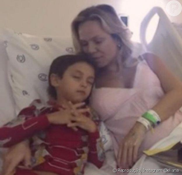 Eliana comentou apoio do filho, Arthur, durante gravidez de risco