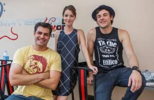 Sergio Guizé mostra a Nathalia Dill nova música para novela 'Alto Astral'