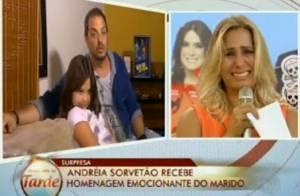 'A Fazenda 7': Andréia Sorvetão chora com homenagem da família: 'Maior prêmio'