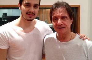 Luan Santana ensaia com Roberto Carlos para especial da Globo: 'Uma dádiva!'