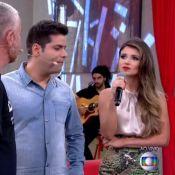 Paula Fernandes e Fátima Bernardes comem formiga durante o 'Encontro': 'Gostei'