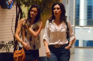 Fátima Bernardes curte passeio em shopping do Rio com a filha Beatriz