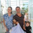 Murilo Rosa e Fernanda Tavares são pais de Lucas, de 5 anos, e Artur, de 4 meses