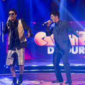 Após polêmica com Dani Calabresa, Marcelo Adnet canta rap no 'Caldeirão do Huck'