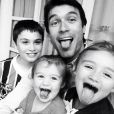 Daniel Bueno tem três filhos, Luke, Marina e Angelina