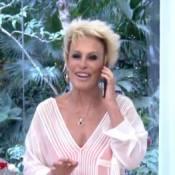 Ana Maria Braga atende telefonema do filho no 'Mais Você': 'Pedrão, tô no ar'