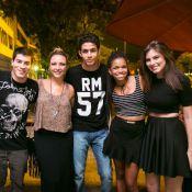 Arthur Aguiar e Bruna Hamu, de 'Malhação Sonhos', curtem noite em boate no Rio