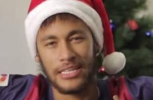 Neymar põe gorrinho de Papai Noel e envia mensagem de Feliz Natal: 'Seja feliz'