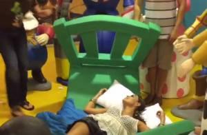 Juliana Paes brinca durante festa de 4 anos do filho Pedro: 'Desmaiada'