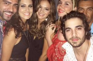Bruna Marquezine curte festa ao lado de Fiuk e amigos em Jurerê Internacional